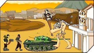 - ТАНК ПРОТИВ ВЕЛИКАНА Age of war 2 Generals прохождение 1