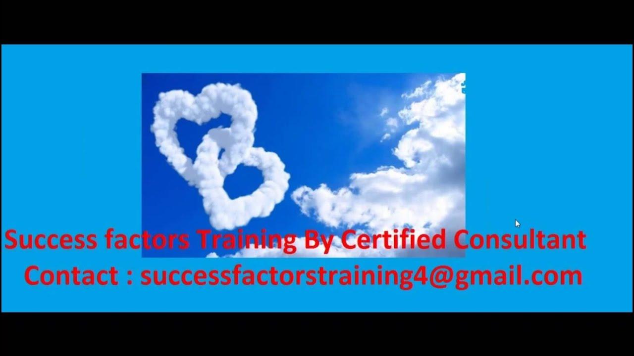 SAP SuccessFactors Online Training with server access