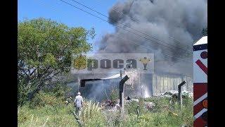 Incendio en un galpón de Mercedes
