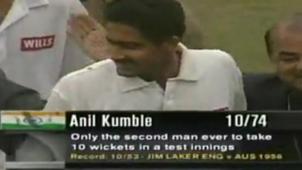 Anil Kumble's historic 10-wicket haul against Pakistan   Anil ...
