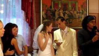 свадьба Кости и Насти! Первый кусочек торта