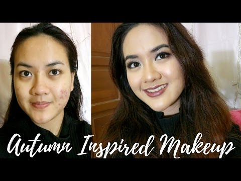 Autumn Inspired Makeup Tutorial | Kalem gitu warnanya (Full Penjelasan + Acne Cover)