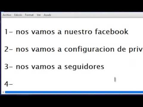 como hacer para poner seguidores en facebook - YouTube