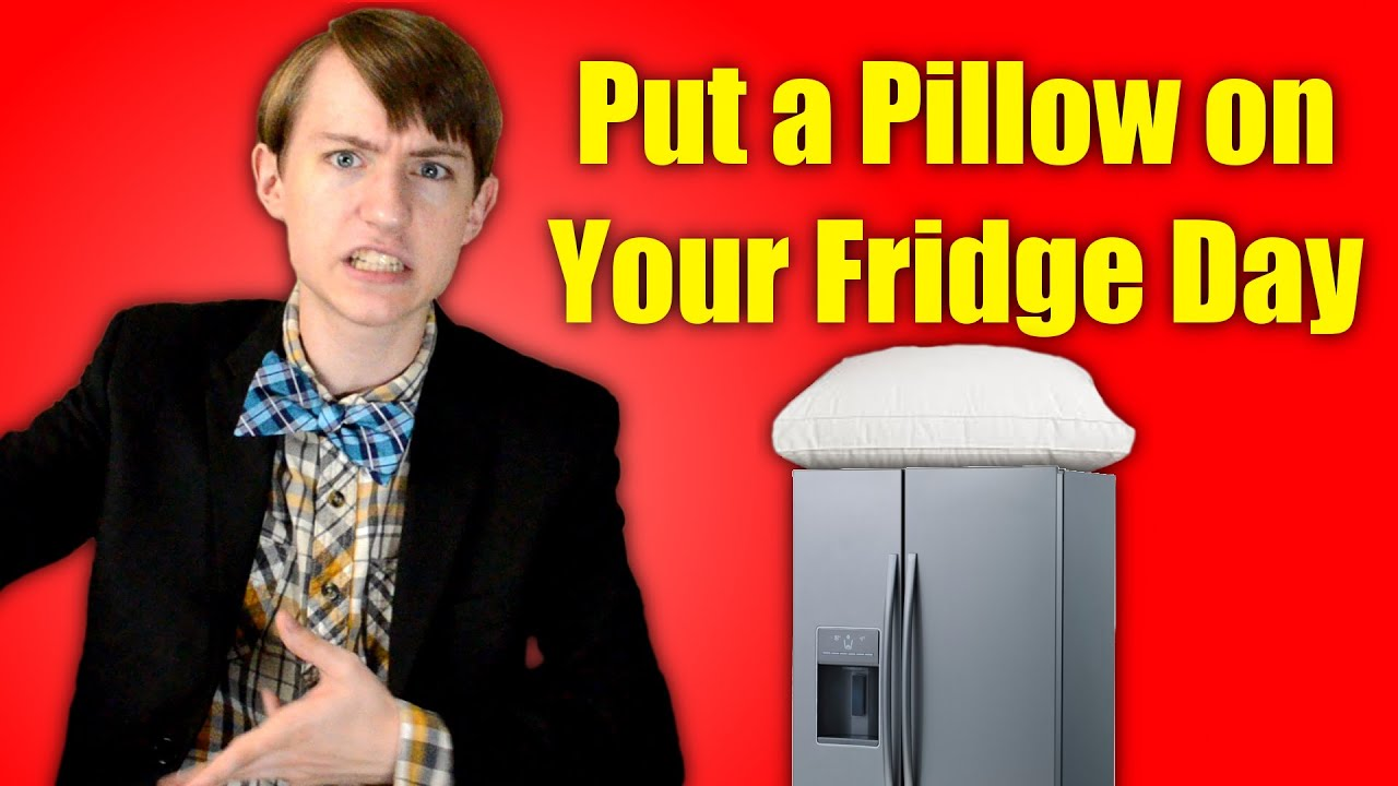 put a pillow on your fridge day fantastic fridays youtube
