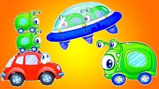 Мультики про машинки и инопланетян. Машинка Вилли 8 - мультфильм игра Красная машина спасает планету