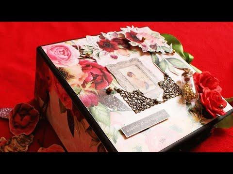 Interactive Mini Album || Bob n Betty Pattern papers || Love Photo Album || DIY || EXPLOSION BOXES