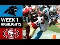 Panthers vs. 49ers | NFL Week 1 Game Highlights