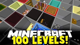 Minecraft 10 MINUTE PARKOUR RACE  OVER 101 NEW 19 JUMPS  LEVELS