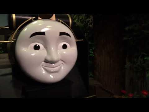 Giant Thomas N Friends Trains Percy, Gordon James Spencer Harvey Oliver At Thomas Land Ride