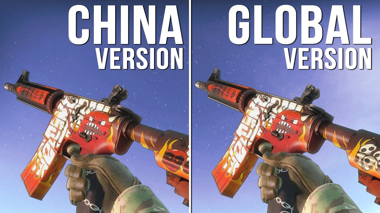 cs go china version vs global version weapon skins part 04