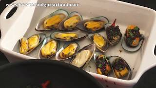 Baked Mussels Asian Style Recipe How To Cook Great 7up Sprite Chilli Garlic Ginger Soy Sauce Seafood