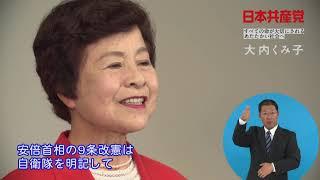 茨城県 大内くみ子 政見放送