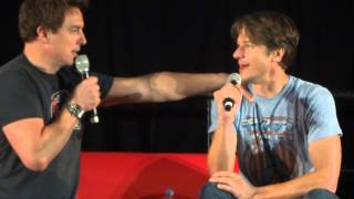 John Barrowman and his husband Scott  Talking about Free Passes