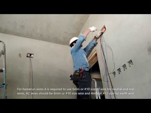 how to do electrical wiring in the house and building
