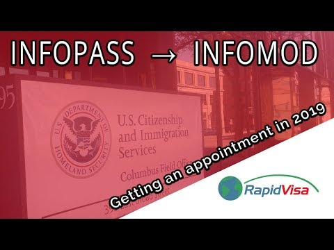 How To Get A USCIS Appointment (InfoPass/InfoMod) In 2019