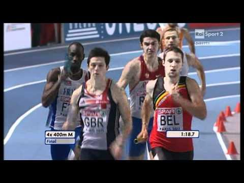 4x400m Relay Men Final European Athletics Championships 2011, Paris