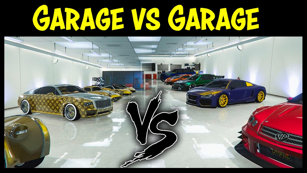 Gta 5 online garage vs garage ep 16 gold edition best cars competition youtube