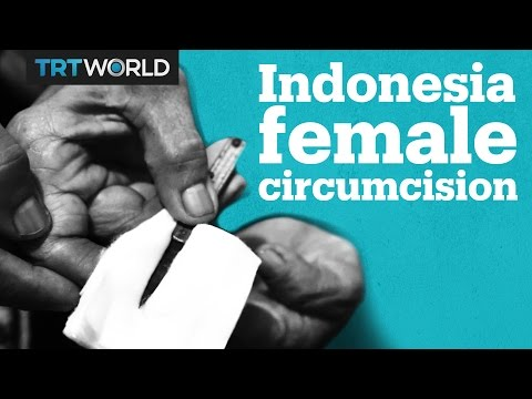 This Indonesian toddler is about to undergo FGM