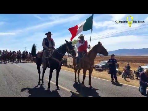 "ENTREGA DE CABALGATA BINACIONAL VILLISTA 2016"" BUENAVENTURA--GALEANA"""