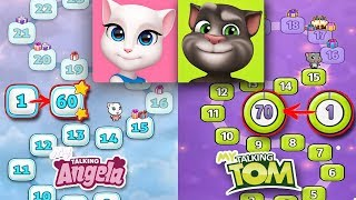 My Talking Angela Levels 1-60 | My Talking Tom Levels 1-70 | Walkthrough - Gameplay, Android Mobile