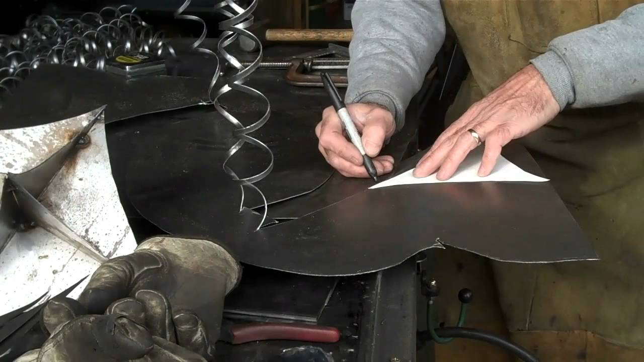Sheet metal art for the holidays by mitchell dillman youtube
