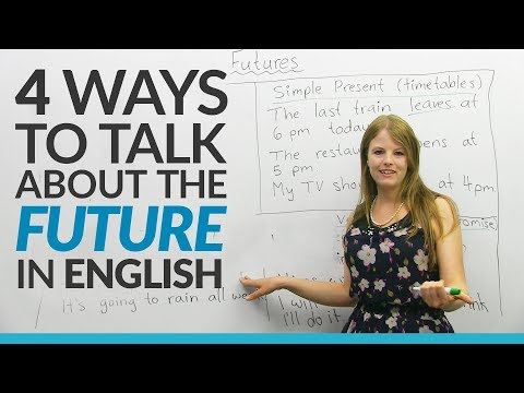 Learn English Tenses: 4 ways to talk about the FUTURE