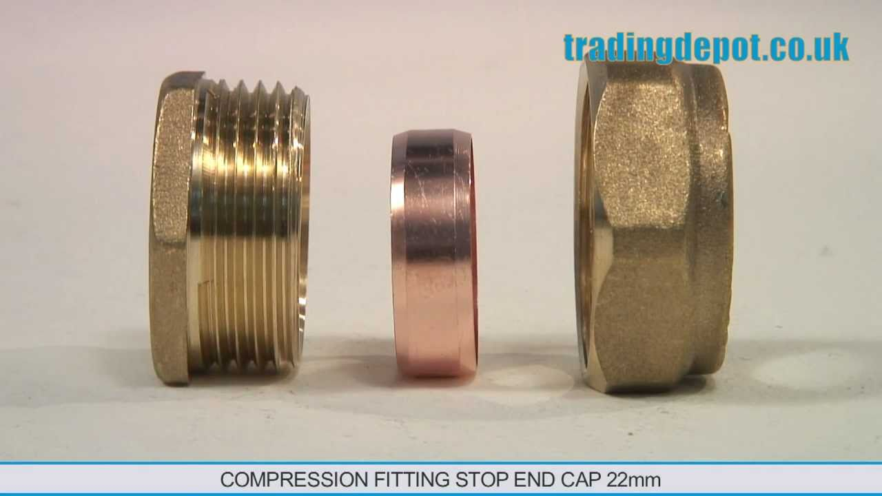 Trading Depot Compression Fitting Stop End Cap 22mm Part