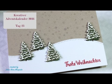 kreativer adventskalender 2016 tag 23 holiday craft series 2016 day 23 youtube. Black Bedroom Furniture Sets. Home Design Ideas
