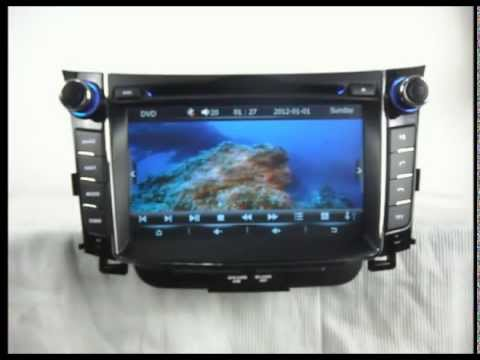 hyundai i30 dvd player with gps navigation tv bluetooth. Black Bedroom Furniture Sets. Home Design Ideas