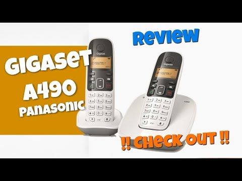 Siemens Gigaset A490 White - Cordless Phone Unboxing