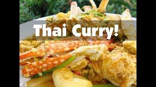 Thai Food Curry Recipe - Stir Fried Crab with Curry Powder