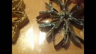 Weinachten Stern -  Schneeflocke selber basteln aus Küchenrollen