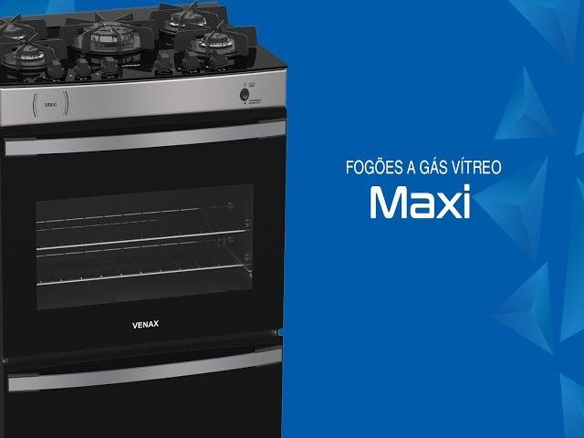 Fogão a gás Vítreo Venax – Maxi 4, 5 e 6 queimadores