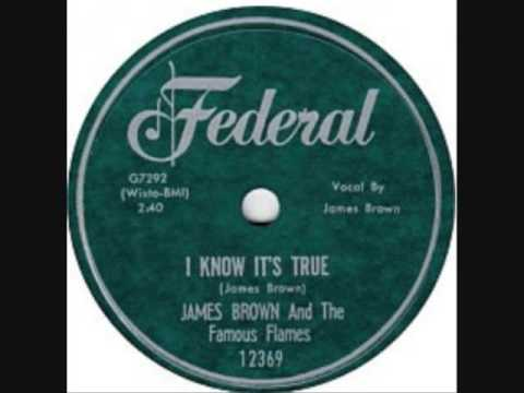 JAMES BROWN   I Know It's True   78   Jan '60