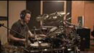 Film composer Brian Tyler drumming in studio