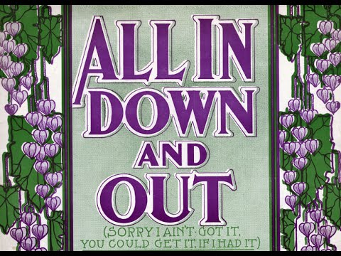 """Arthur Collins """"All In Down And Out"""" Edison cylinder 9492 (1907)"""