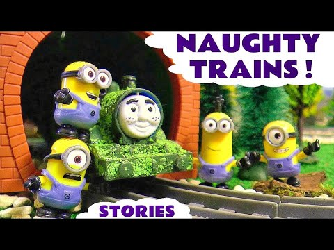 Naughty Games with Thomas and Friends Toy Trains and Minions - Tom Moss TT4U