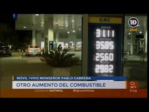 En Córdoba capital, la nafta Premium promedia los $ 36