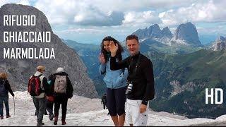 Lago di Fedaia e Rifugio Ghiacciaio Marmolada Regina delle Dolomiti Patrimonio dell'Umanità UNESCO