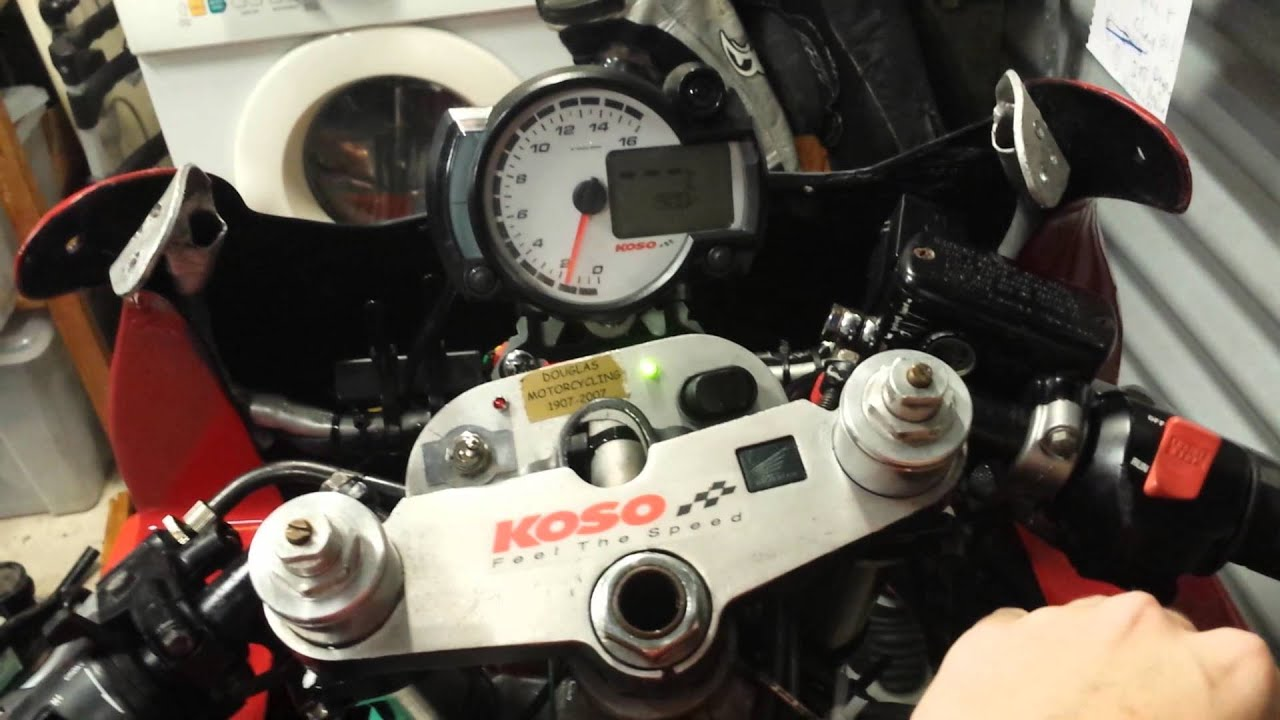 hight resolution of koso rx2n r honda 94 cbr600 f2 race bike dash setup problem solved