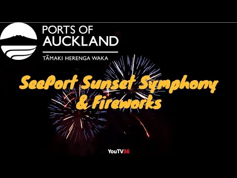 Fireworks on Ports of Auckland's SeePort Festival, Auckland Anniversary Day 2018