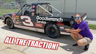 We Put Drag Racing Slicks on Our 900 Horsepower NASCAR Truck!!! (IT HOOKS!)