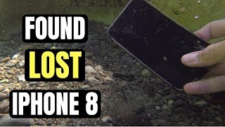 found iphone 8 in river