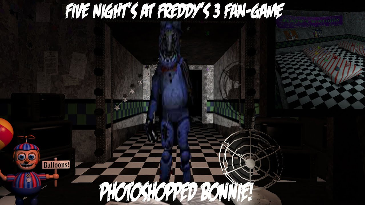 Photoshopped bonnie five night s at freddy s 3 fan made youtube