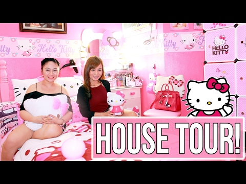 HELLO KITTY House Tour + Hello Kitty Collection!! (Every Girl's Dream!)