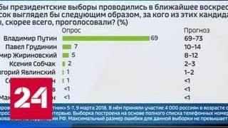 Большинство россиян готовы голосовать за Путина - Россия 24
