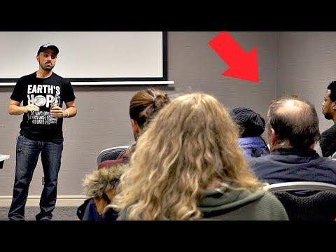 A Farmer Shows Up at a Vegan Speech...