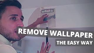 HOW TO REMOVE WALLPAPER THE EASY WAY | with an electric wallpaper stripper