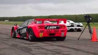 Vmax 200 2014 McLaren F1 GTR vs Koenigsegg CCX Insane Spin !!