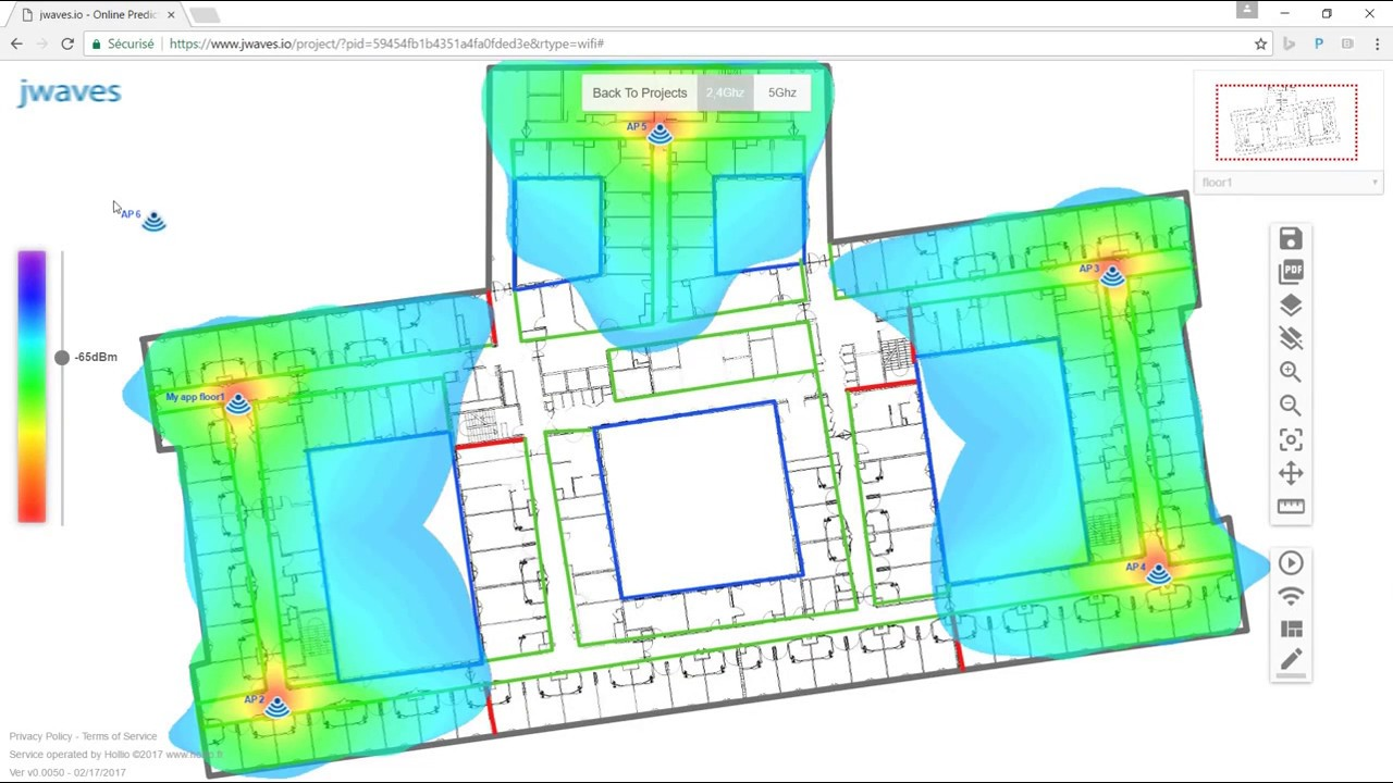 www jwaves io free online DECT & WIFI surveys / simulation /planning